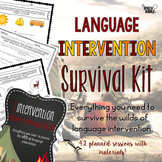 Language Intervention Survival Kit: Elementary #jan2019slpmusthave