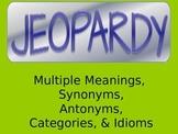 Language Jeopardy PowerPoint