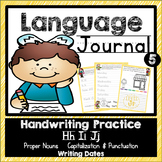 Language Journal for Handwriting, Proper Nouns, and Dates
