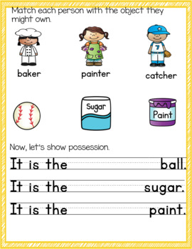 Language Journal for Handwriting and Possessive Nouns