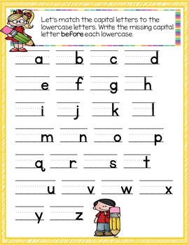Language Journal for Upper-Case Letters and Capitalization
