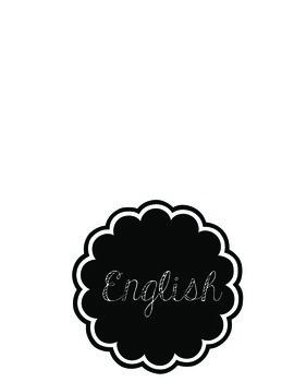 Language Labels FREEBIE