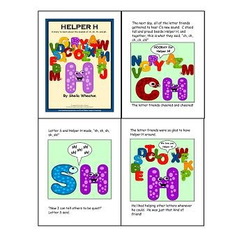 Helper H-Phonics Rule-ch, sh, th, ph:  A Literacy Laws Packet for Young Readers