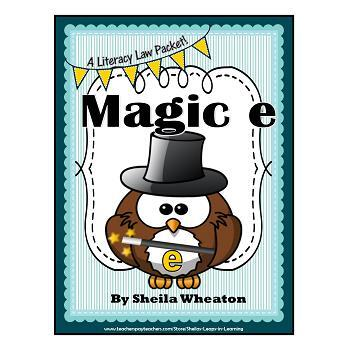 Magic e: Silent e at the Ends of Words- A Literacy Laws Packet for Young Readers