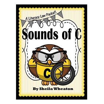Sounds of C- /s/ or /k/?  A Literacy Laws Packet for Young Readers