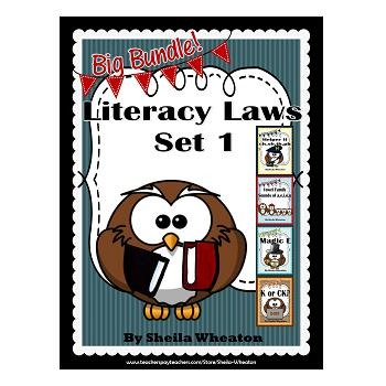Literacy Laws Bundle - Set 1:  Reading & Writing Tools for Young Students