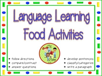 Language Learning Food Activities