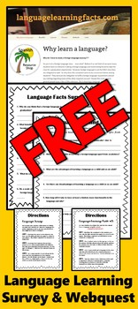 Language Learning Facts Survey and Webquest