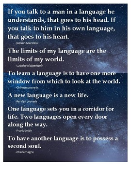 Language Learning Sayings (Wall Decoration)
