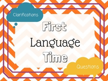 Language Learning Tools: L1/L2 Language Signs and Clarifying Qs