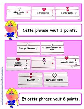 Language Lego™ (French sentence-building blocks)