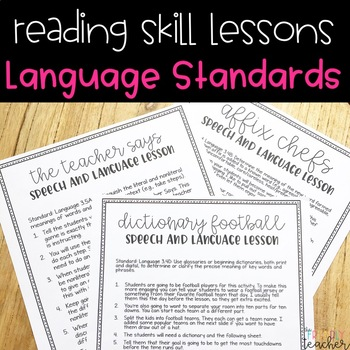Language Lessons for Third Grade