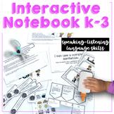 Language Listening Skills Interactive Notebook for Speech