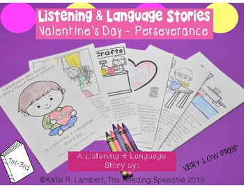 Language & Listening Stories: Valentine's Day Cards-A Story About Perseverence