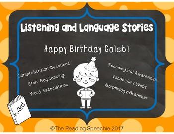 Language & Listening Story: Happy Birthday Caleb