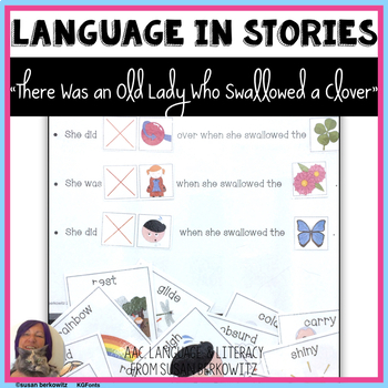 There Was an Old Lady Who Swallowed a Clover language lesson and core words