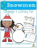 Language, Literacy and Art Fun with Snowmen