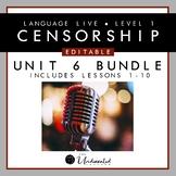 """Language Live """"Censorship"""" Unit 6 Editable PPT Collection"""
