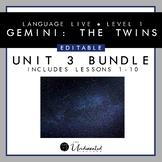 "Language Live ""Gemini: The Twins"" Unit 3 PPT Collection +"