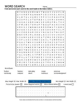 Language Live Level 2 Unit 11 vocabulary word search crossword puzzles EDITABLE