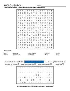 Language Live Level 2 Unit 3 vocabulary wordsearch crossword puzzles