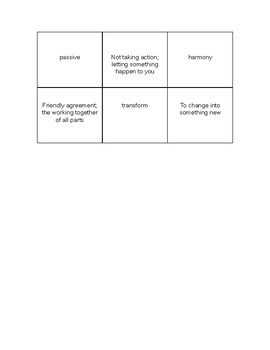Language Live Vocabulary Memory Game Level 2 Unit 6