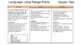 Language Long Range Plans - Ontario Curriculum - Grade 7&8