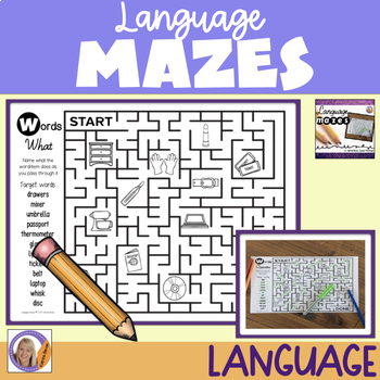 Language Mazes- for vocabulary building and wh questions