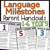 Developmental Language Milestones Parent Handouts
