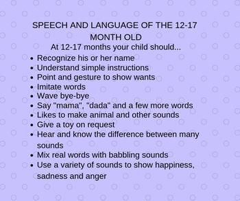 Language Milestones (12-17 months)