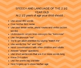 Language Milestones (2 1/2 years)