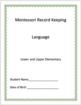 Language - Montessori Record Keeping