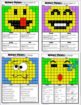 Language Mystery Emoji Puzzles - 4th Grade Language Skills