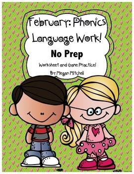 Phonics & Language NO PREP-Word Work-February