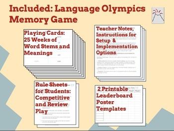 Language Olympics: Latin Roots Memory Game