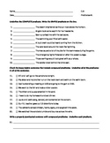 ELA PREDICATES Simple, Complete, & Compound WORKSHEET #1 w/ Answers