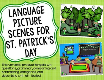 Language Picture Scenes for St. Patrick's Day