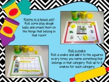 Interactive Language Play Dough Mats