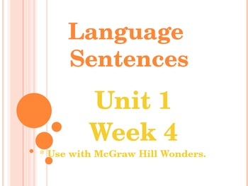 Language PowerPoint Unit 1 Week 4 Fifth Grade McGraw-Hill Wonders