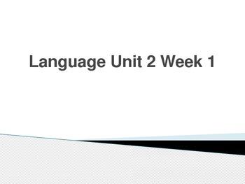 Language PowerPoint Unit 2 Week 1 Fifth Grade McGraw-Hill Wonders