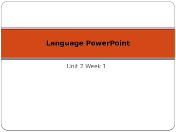 Language PowerPoint Unit 2 Week 2 Fifth Grade McGraw-Hill Wonders