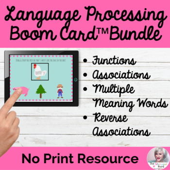Language Processing Hierarchy BOOM Card™ Bundle NO PRINT Speech Therapy