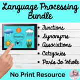 Language Processing Bundle NO PRINT Speech Therapy | Dista