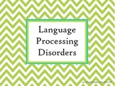 Language Processing Disorder Powerpoint for Speech Languag