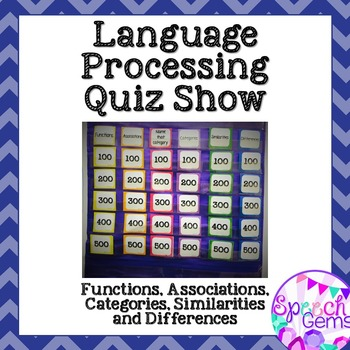 Language Processing Game:  Associations, Categories, Simil