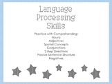 Language Processing Practice (with Adjectives, Spatial, 2-steps, and more)