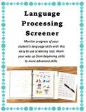 Language Processing Screener