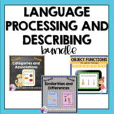 Language Processing and Describing Bundle: No print Speech Therapy, teletherapy