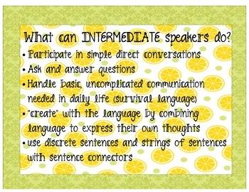 Language Proficiency Posters