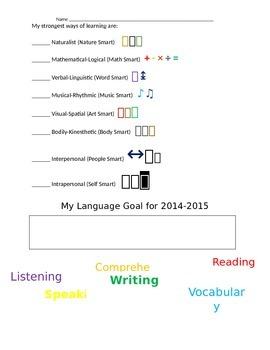 Language Profile - Language Survey for ELL/ESL/ENL Students